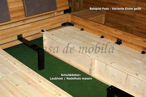 Schubladenbett 100x200 Seniorenbett Komforthöhe Vollholz Kiefer massiv gelaugt geölt – Bild 9