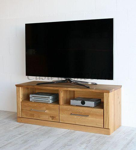 TV-Lowboard PALERMO 114x45x40cm Wildeiche Fernsehkommode natur geölt – Bild 4