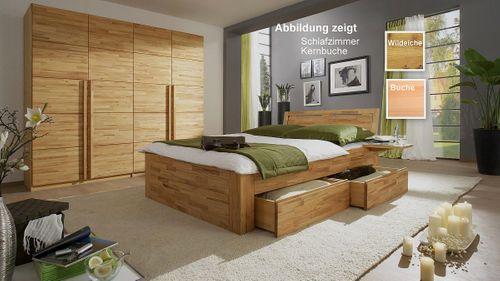 Schlafzimmer Set Bett 160x200 massiv Livos geölt – Bild 1