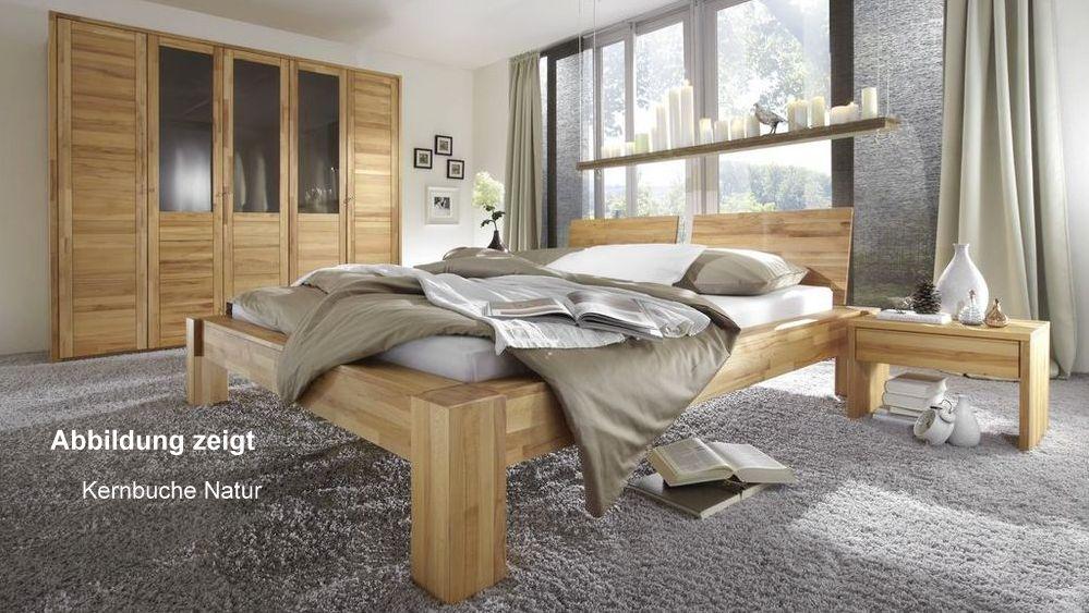 Schlafzimmer Set 4-teilig Massivholz geölt