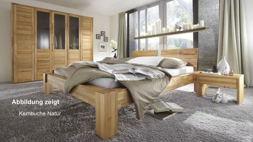 schlafzimmer set 4 teilig massivholz ge lt bett 160x200. Black Bedroom Furniture Sets. Home Design Ideas