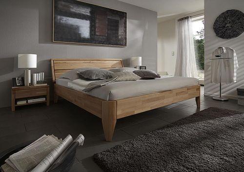 Bett 160x200 geölt Kernbuche massiv Doppelbett parkettverleimt – Bild 2