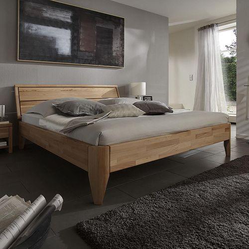 Bett 90x200 geölt Kernbuche Seniorenbett massiv Einzelbett parkettverleimt – Bild 1