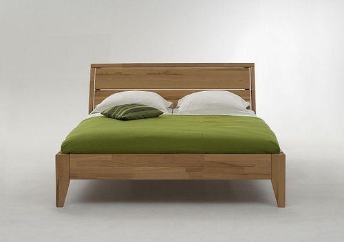Doppelbett 160x200 Kernbuche massiv Bett geölt parkettverleimt – Bild 1