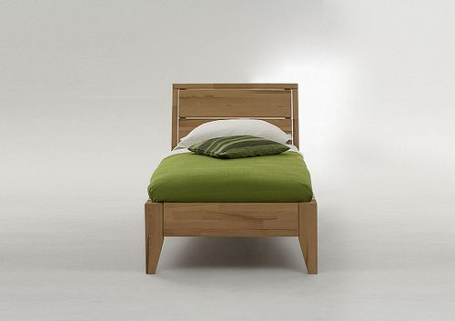 Holzbett 100x200 Kernbuche Seniorenbett massiv Bett geölt parkettverleimt