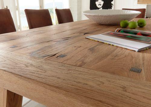 Tisch Balkeneiche 200 x 100 mit Rissen Firenze – Bild 2