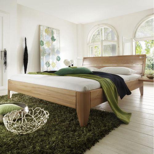 Bett 120x200 geölt Kernbuche massiv Einzelbett stabverleimt – Bild 1