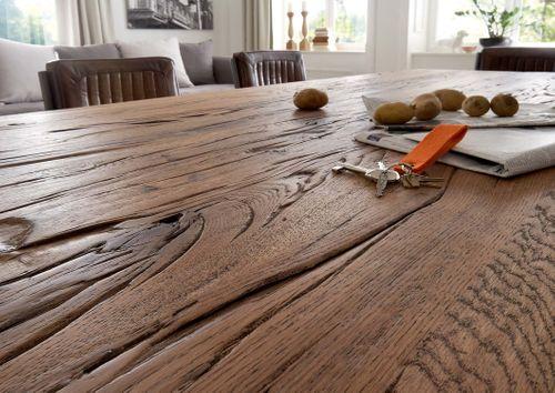 Balkeneiche Tisch 260x100 Rustic Oak Dresden – Bild 9