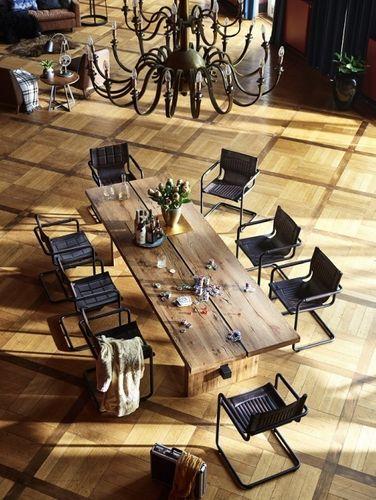 Balkeneiche Tisch 280x100 Rustic Oak Dresden – Bild 2