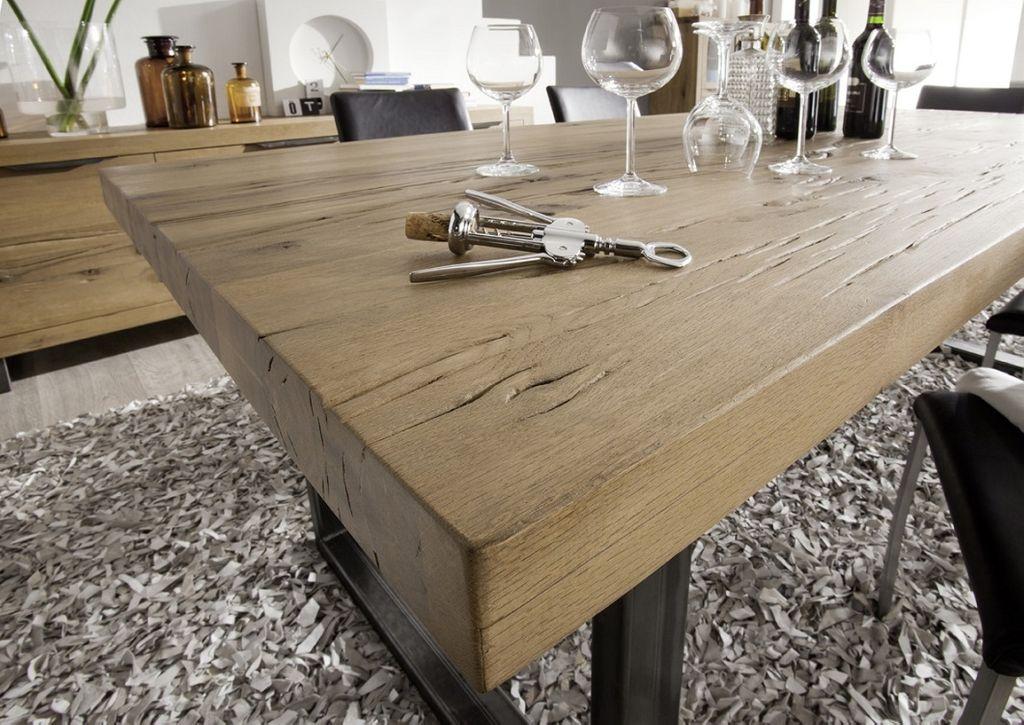 Balkeneiche Tisch 300x100 Rustic Oak Dresden – Bild 12