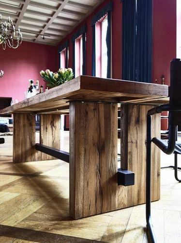 Wangentisch 300x110 Balkeneiche Rustic Oak  – Bild 6