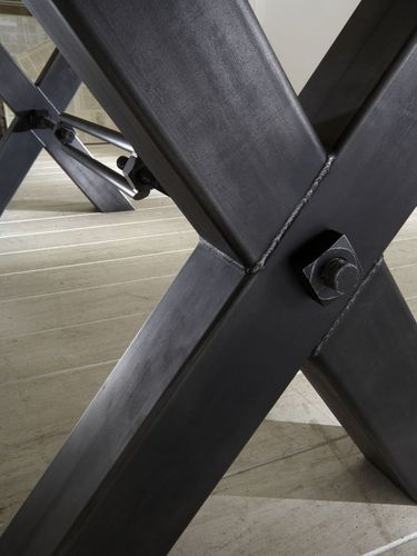 Balkeneiche Tisch 200x110 Kansas Eisengestell – Bild 5