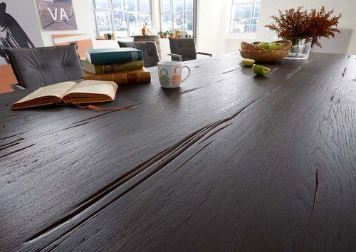 Sitzbank 180 cm Industriedesign Kansas Balkeneiche Stahl – Bild 10