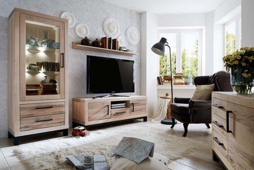 Anrichte Balkeneiche massiv Rustic Oak Valentino – Bild 2