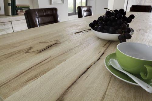 Baumkante Tisch 180x100 Stahl Kufen – Bild 8