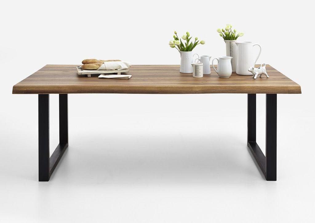 Baumkante Tisch 220x100 Stahl Kufen – Bild 9