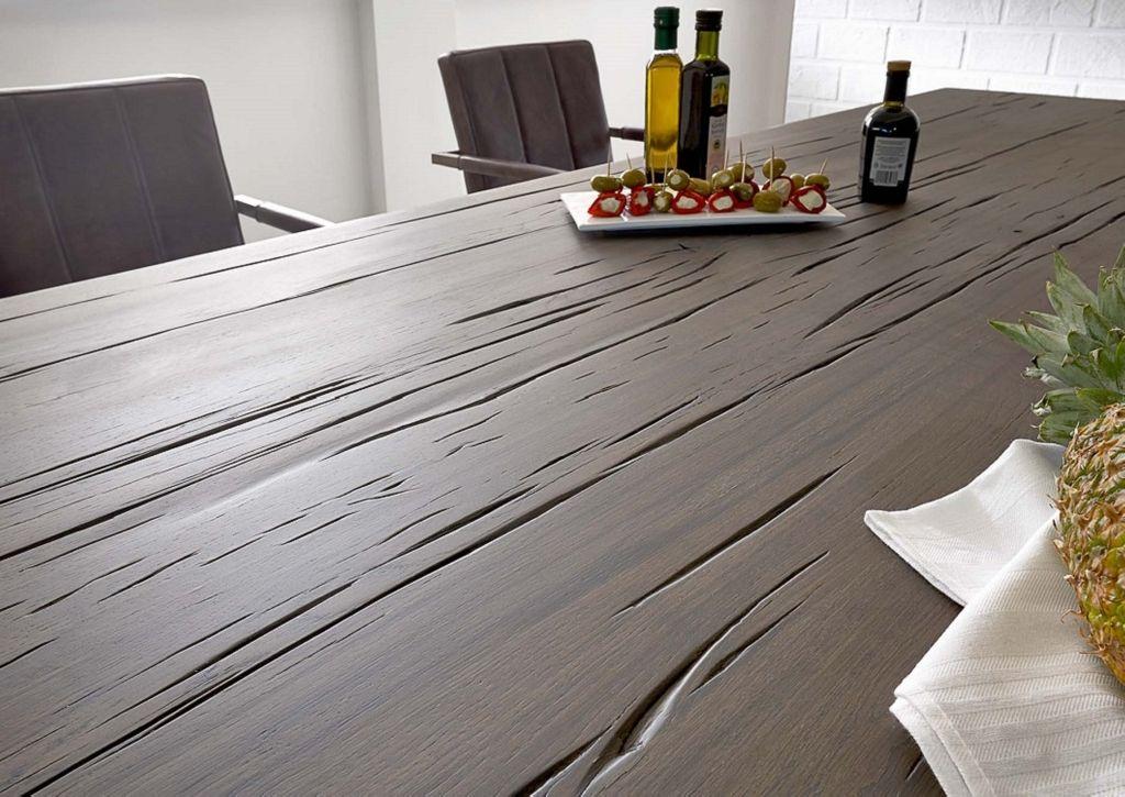 Baumkante Tisch 220x100 Stahl Kufen – Bild 3