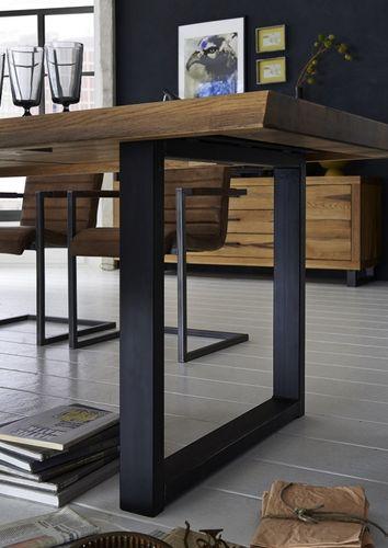 Baumkante Tisch 240x100 Stahl Kufen – Bild 10
