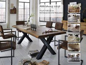 Baumkante Tisch 180x100 Stahl X-Beine 001