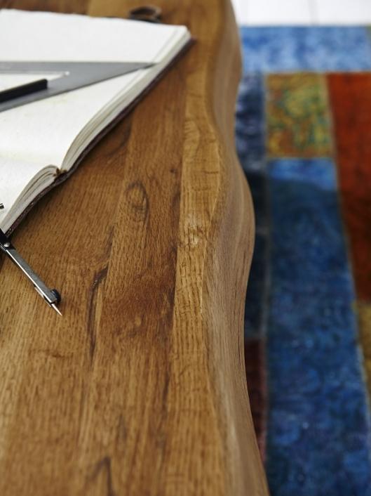 Baumkante Tisch 200x100 Stahl X-Beine – Bild 12