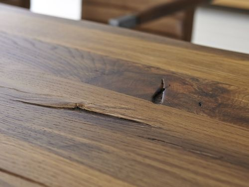 Baumkante Tisch 220x100 Stahl X-Beine – Bild 11