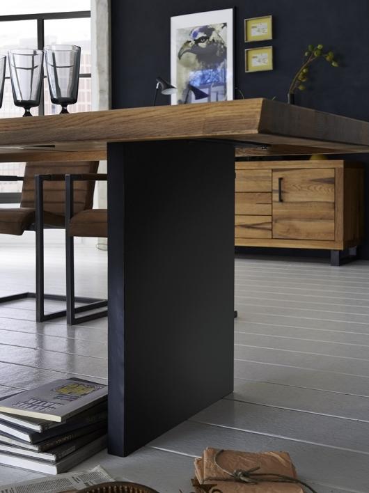 Wangentisch 180x100 Baumkante Stahl Wangen – Bild 2