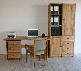 Arbeitszimmer 3teilig Büromöbel Eiche massiv geölt 001