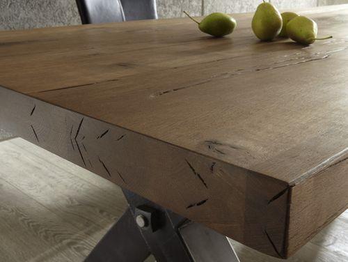 Kufentisch 260x100 Balkeneiche Martin Stahlgestell – Bild 7
