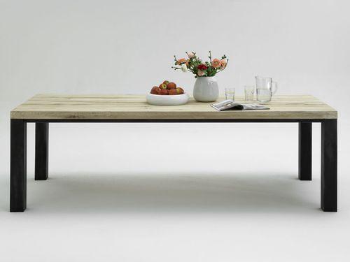 Esszimmer komplett 9teilig Tisch 200 Balkeneiche rustikal – Bild 4
