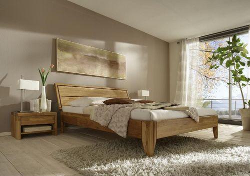 Bett 120x200 Eiche massiv Einzelbett geölt – Bild 2