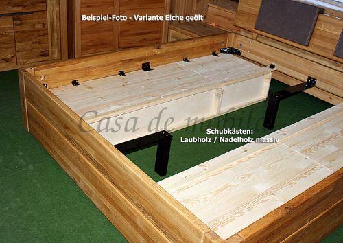 Schubladenbett 120x200 1 Schubkasten Komforthöhe Buche massiv stabverleimt geölt – Bild 4