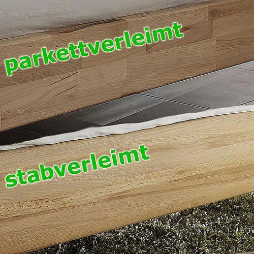 Schubladenbett 140x200 2 Schubkästen Komforthöhe Buche massiv stabverleimt geölt – Bild 9
