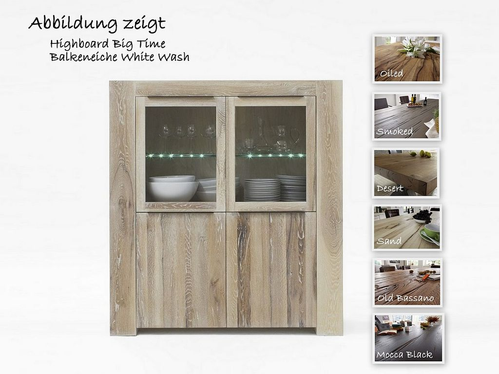 Highboard Big Time Balkeneiche rustikal  – Bild 1