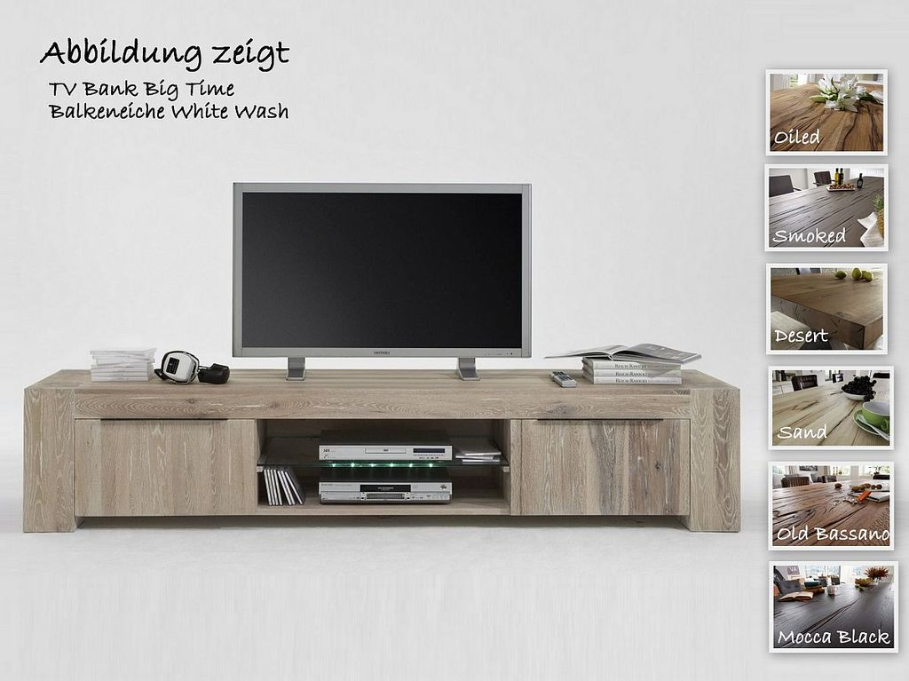 TV Bank Big Time Balkeneiche rustikal  – Bild 1