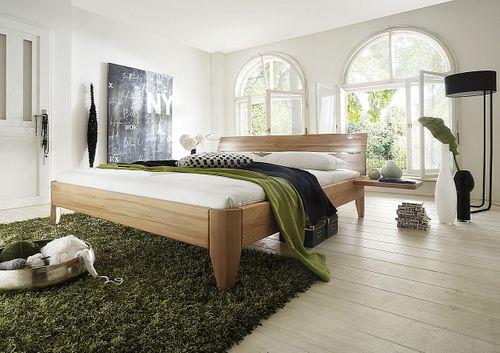 Doppelbett 140x200 geölt Kernbuche massiv Bett stabverleimt – Bild 2