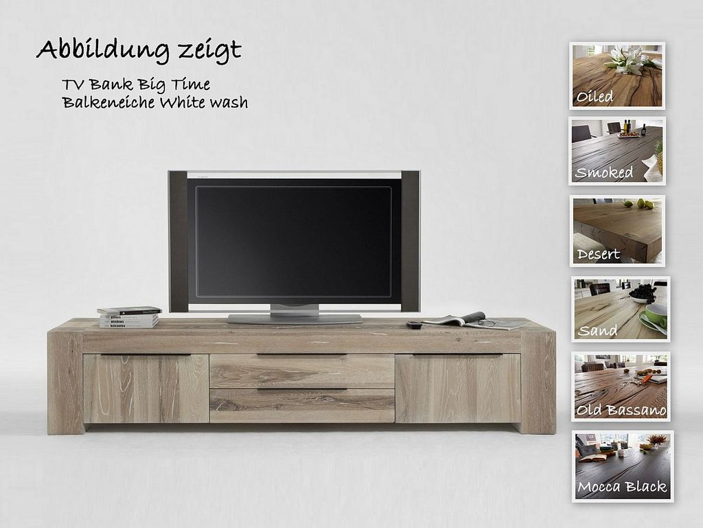 TV Board Big Time Balkeneiche rustikal  – Bild 1