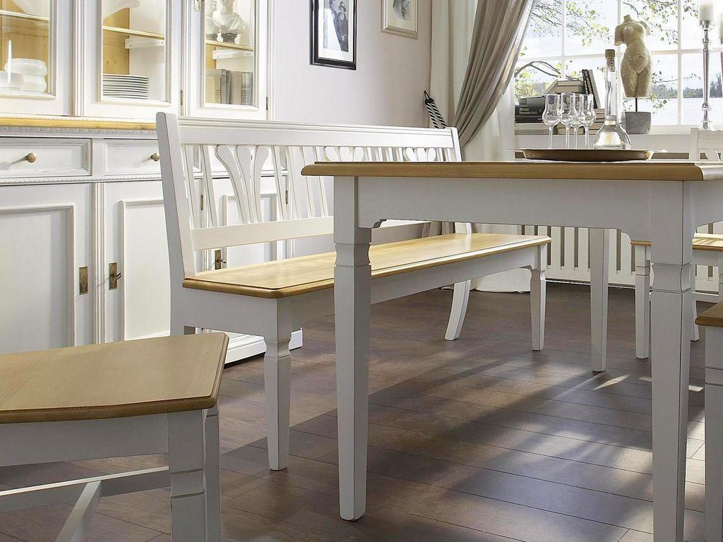landhausstil sitzbank 180 cm antikwei lackiert. Black Bedroom Furniture Sets. Home Design Ideas
