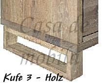 Massivholz Anbauwand, B310xH165xT42 cm, 4teilig   – Bild 11