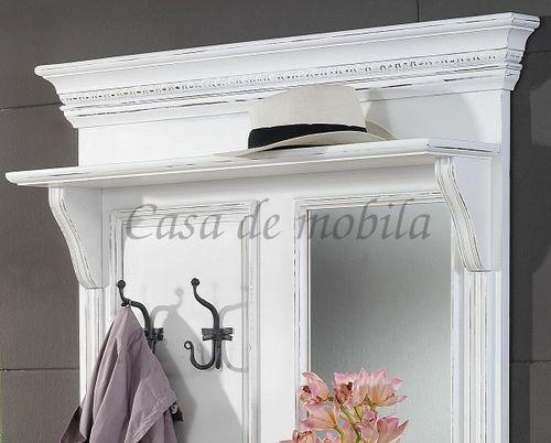 Garderobe VICTORIA 105x205x25cm antikweiß lackiert Massivholz Fichte – Bild 2