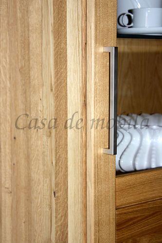 Wohnzimmerschrank rechts Massivholz Vitrine Highboard 69x204x40cm geölt – Bild 4