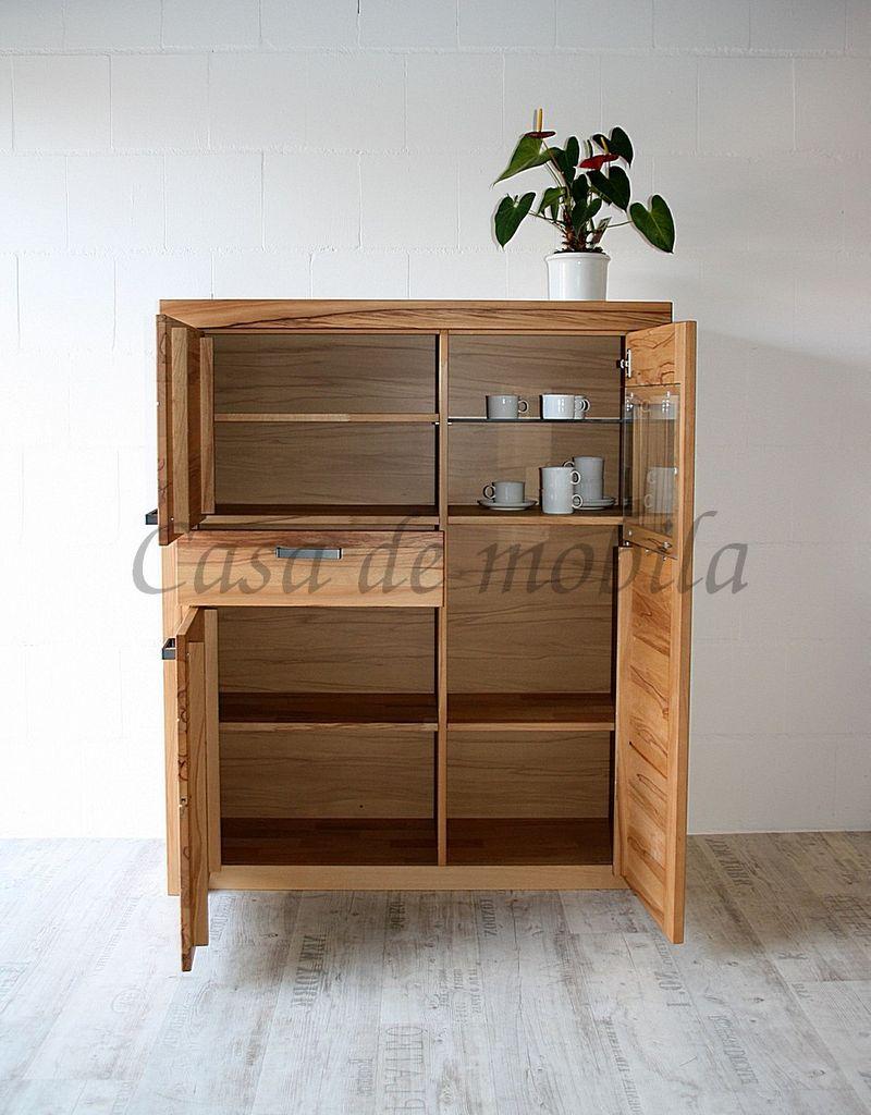 Wohnzimmerschrank Vitrinenschrank  115x137x40cm  – Bild 10