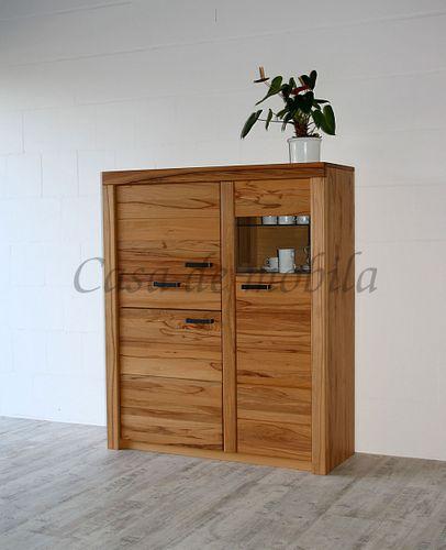Wohnzimmerschrank Vitrinenschrank  115x137x40cm  – Bild 1