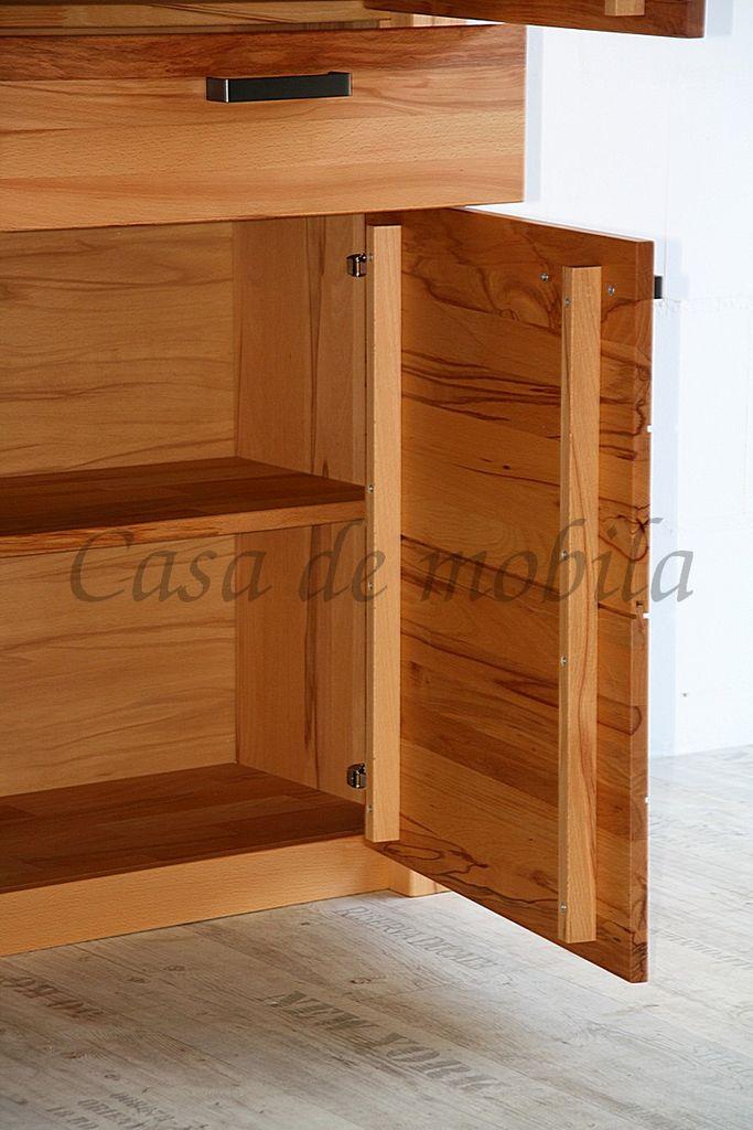 Naturholz Sideboard Anrichte 218x94x45cm – Bild 5