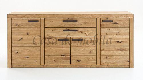 Naturholz Sideboard Anrichte 218x94x45cm – Bild 1