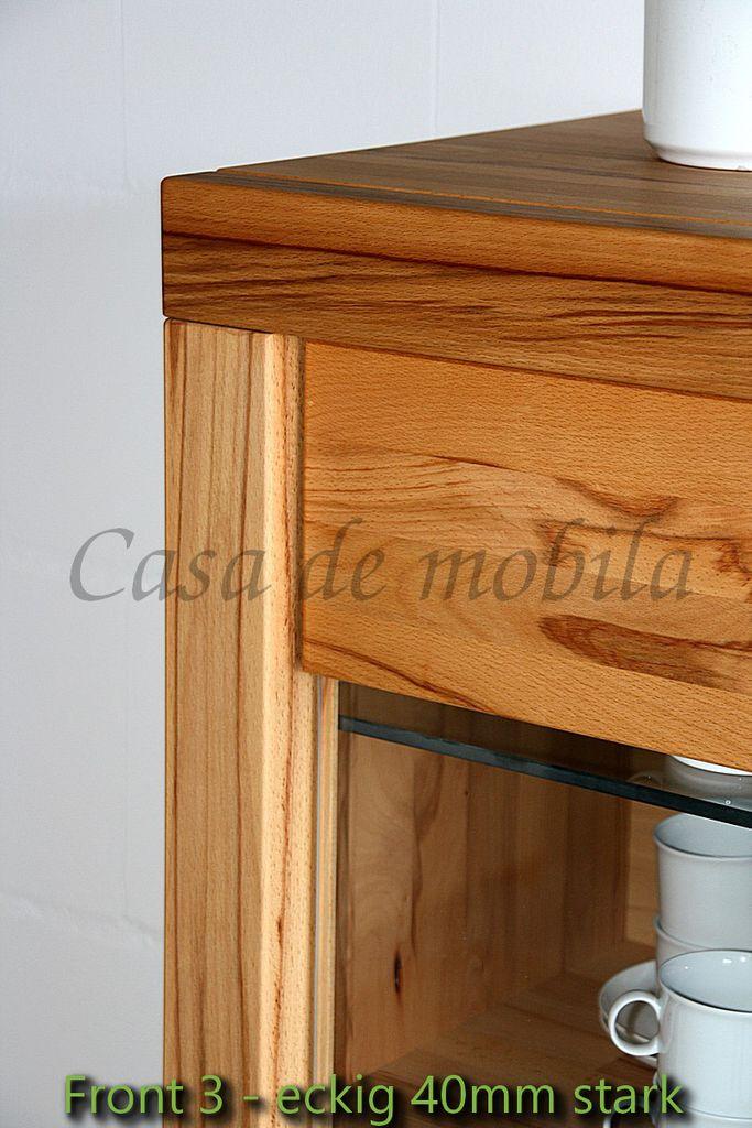 Vollholz Highboard Wohnzimmerschrank 71x137x40cm  – Bild 5