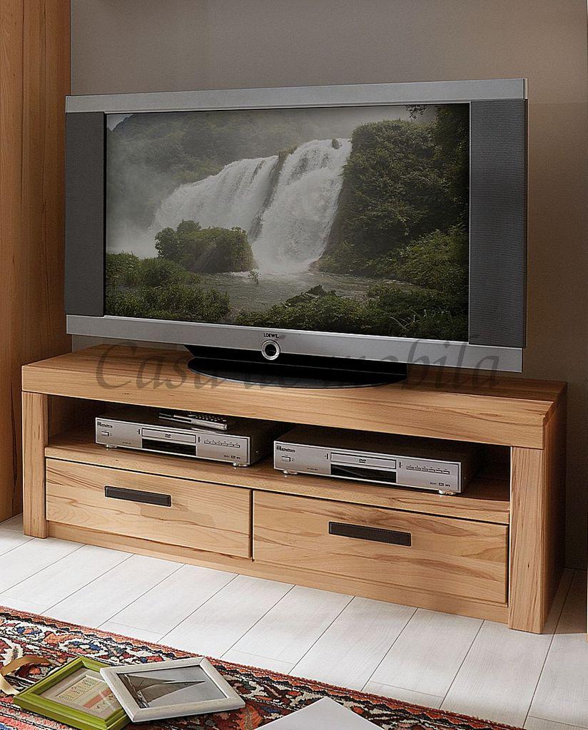 TV-Lowboard COOPER 128x45x40cm Massivholz TV- geölt, – Bild 1