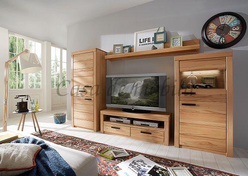 Vollholz TV- Schrank TV-Lowboard 128x45x40cm  – Bild 2