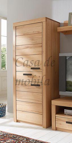 Naturholz Hochschrank Wohnzimmerschrank 71x203x40cm  – Bild 1