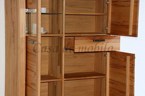 Naturholz Hochschrank Wohnzimmerschrank 71x203x40cm  – Bild 7