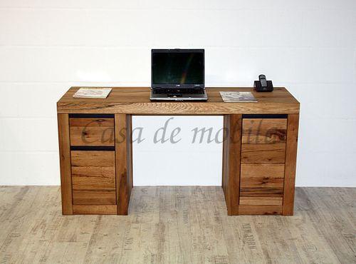Schreibtisch Zerreiche massiv Natur geölt – Bild 12